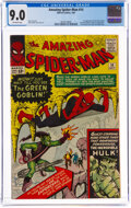 Silver Age (1956-1969):Superhero, The Amazing Spider-Man #14 (Marvel, 1964) CGC VF/NM 9.0 Off-white pages....