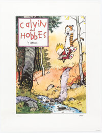 Bill Watterson Calvin and Hobbes Signed Limited Edition Lithograph Print #138/1000 (Watterson, 1992)