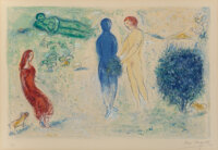 Marc Chagall (1887-1985) Chloe's Judgment, from Daphnis and Chloe, 1961 Lithograph in colors on Arches paper 16-1