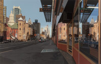 Richard Estes (b. 1932) Holland Hotel, 1980 Screenprint in colors on paper 44 x 70-1/2 inches (111.8 x 179.1 cm) (sig