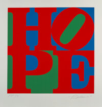Robert Indiana (1928-2018) Hope, 2010 Silkscreen in colors on wove paper 31-3/4 x 31-7/8 inches (80.6 x 81 cm) (image