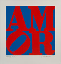Robert Indiana (1928-2018) Amor, 1994 Aquatint in colors on Rives BFK paper 23 3/4 x 23 3/4 inches (60 x 60 cm) (imag