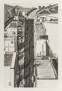 Wayne Thiebaud (b. 1920) Downgrade, from Recent Etchings II, 1979 Etching, aquatint, and