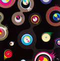 Prints & Multiples, Takashi Murakami (b. 1962). Jellyfish Eyes - Black 2, 2004. Offset lithograph in colors on satin wove paper. 19-3/4 x 19...