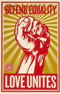 Shepard Fairey (b. 1970) Defend Equality, 2009 Screenprint in colors on wove paper 36 x 24 inches (91.4 x 61 cm) (she