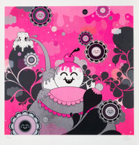Buff Monster (b. 1979) Hot Pink Explosion, 2010 Giclee print in colors on wove paper 20-1/4 x 19-1/2 inches (51.4 x 4