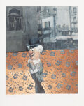 Prints & Multiples, Charming Baker (b. 1964). The Wrong Brave Face, 2016. Archival pigment print with screenprint and copper leaf on Somerse...