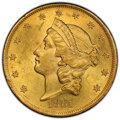 1861 $20 -- Filed Rims -- PCGS Genuine. Unc Details. Mintage 2,976,453. From The Wabash Collection of Liberty Double...