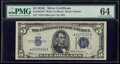 Small Size:Silver Certificates, Fr. 1653* $5 1934C Wide Silver Certificate Star. PMG Choice Uncirculated 64.. ...