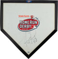 Baseball Collectibles:Others, 2010 Home Run Derby Home Plate Signed by David Ortiz, MLB Authentic. ...