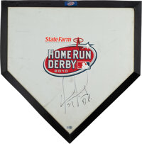 2010 Home Run Derby Home Plate Signed by David Ortiz, MLB Authentic