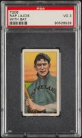 Baseball Cards:Singles (Pre-1930), 1909-11 T206 Sweet Caporal 350/30 Nap Lajoie (With Bat) PSA VG 3....