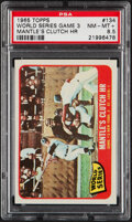 Baseball Cards:Singles (1960-1969), 1965 Topps World Series Game 3 (Mantle's Clutch HR) #134 PSA NM-MT+ 8.5....
