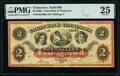 Obsoletes By State:Tennessee, Nashville, TN- Union Bank of Tennessee $2 Aug. 1, 1862 G206a Garland 1026 S-C N-B.Uni-2-6 PMG Very Fine 25.. ...