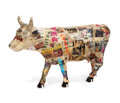 """Sculpture, Peter Tunney. Courage and Honor. Fiberglass resin. Standing Cow 