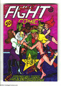 "Modern Age (1980-Present):Alternative/Underground, Girl Fight Comics #1 (Print Mint, 1972) Condition: VF/NM. Art byTrina Robbins. Signed ""To Mal from Trina"" on the front cove..."