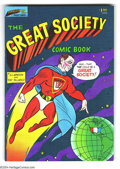 Silver Age (1956-1969):Alternative/Underground, The Great Society Comic Book #nn (Parallax Comic Books, 1966)Condition: VF/NM. One-shot superhero parody comic printed in c...