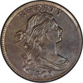 1803 1C Small Date, Large Fraction MS64 Brown NGC