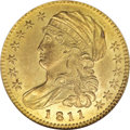 Early Half Eagles, 1811 $5 Small 5 MS62 NGC....