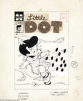 Original Comic Art:Covers, Warren Kremer - Little Dot #39 Cover Original Art (Harvey, 1958). Afall wind blows the dots right off Little Dot's dress --...
