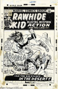"Original Comic Art:Covers, Larry Lieber and Herb Trimpe - The Rawhide Kid #108 Original CoverArt (Marvel, 1973). The Rawhide Kid is jumped ""In the Des..."
