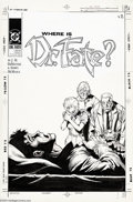 Original Comic Art:Covers, Shawn McManus - Original Cover for Dr. Fate #10 (DC, 1990). Thissad, emotional moment appeared on the cover of Dr. Fate...