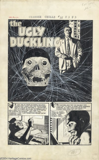 "Manny Stallman and John Giunta - Chamber of Chills #22, Complete 5-page Story, ""The Ugly Ducking"" Original Art..."