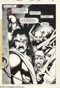 Original Comic Art:Splash Pages, Tim Truman - Starslayer #17 Splash Page, page 8 Original Art (FirstComics, 1984). Torin Mac Quillon takes charge of a motle...