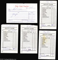 Music Memorabilia:Autographs and Signed Items, Badfinger Group Signed Documents (1973).... (5 Items)