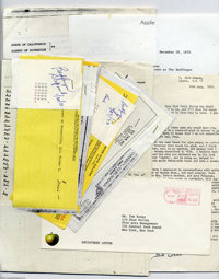 Badfinger Amazing and Revealing Financial Document Archive. An assortment of several documents, including record company...
