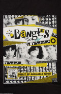 Music Memorabilia:Autographs and Signed Items, The Bangles Group Signed Promo Poster (1983)....
