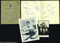 Music Memorabilia:Autographs and Signed Items, The Beatles: Signed Book Page from '62 with Pete Best!...
