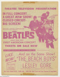 Music Memorabilia:Ephemera, The Beatles: Original Handbill for First U.S. Show Broadcast, 1964....