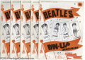 Music Memorabilia:Posters, The Beatles: Lot of 5 Original Pin-Up Screamers Posters Sets (1964).... (5 Items)