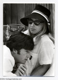 Music Memorabilia:Photos, The Beatles: John and Cynthia Lennon Original Dezo HoffmanPhotograph....