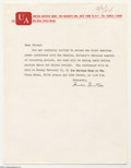 Music Memorabilia:Ephemera, The Beatles: Invitation to the First U.S. Press Conference....