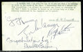 Music Memorabilia:Autographs and Signed Items, The Beatles: Excellent Signature Set - 1964....