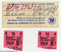 Music Memorabilia:Ephemera, The Beatles: Original Concert Tickets with Envelope - August 30,1965 - Hollywood Bowl.... (3 Items)
