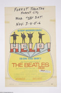 Music Memorabilia:Ephemera, The Beatles: Original Window Card for Help! (1965)....