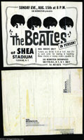 Music Memorabilia:Ephemera, The Beatles: Original Ad Proof - August 15, 1965 at Shea Stadium -From Sid Bernstein Enterprises....
