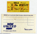 Music Memorabilia:Ephemera, The Beatles: Original Concert Ticket - August 28, 1966 - DodgerStadium.... (2 Items)