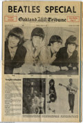 Music Memorabilia:Ephemera, The Beatles: Original Oakland Tribune Newspaper - August 29,1966....