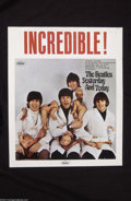 Music Memorabilia:Posters, The Beatles: Original 1966 Color Butcher Cover Poster....
