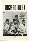 Music Memorabilia:Posters, The Beatles: Original 1966 Black and White Butcher Cover Poster....