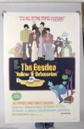 Music Memorabilia:Posters, The Beatles: Massive Yellow Submarine 2-Sheet Subway Poster(1968)....