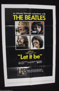 "Music Memorabilia:Posters, The Beatles: Original 1970 1-Sheet Poster for ""Let It Be""...."