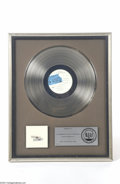 Music Memorabilia:Awards, The Beatles Platinum RIAA Award Presented to Capitol Records(1977)....