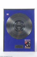 Music Memorabilia:Awards, The Beatles: Rubber Soul UK Platinum Award (1980's)....