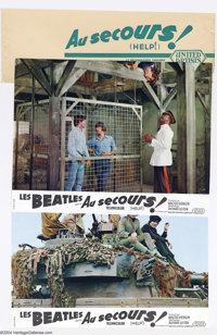 """The Beatles: Original French Lobby Card Set for """"Help!"""" (1965). Original French 12-piece color lobby card set..."""
