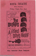 "Music Memorabilia:Ephemera, The Beatles: Original Handbill for ""A Hard Day's Night"" (1964)...."